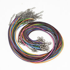Hot New Wholesale Lots 20 Pcs Colorful Leather Cord Rope Necklace Chain