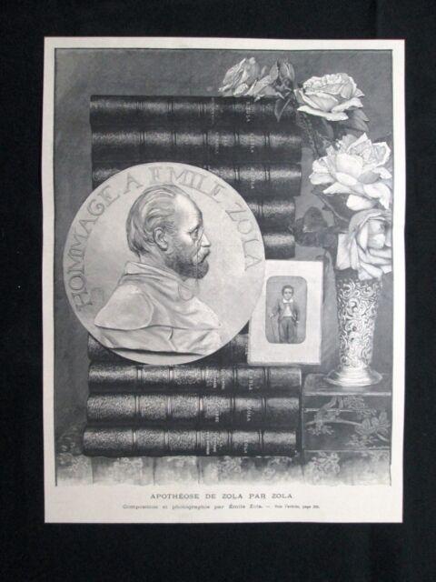 Composizione e fotografia di Emile Zola Stampa del 1902