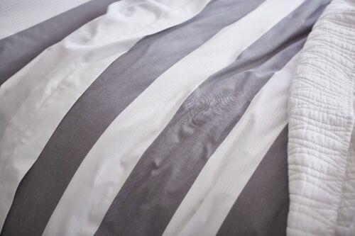 Bianca OMBRE COTTON STRIPE 100/% Cotton Soft Duvet Cover//Quilt Cover Set Grey