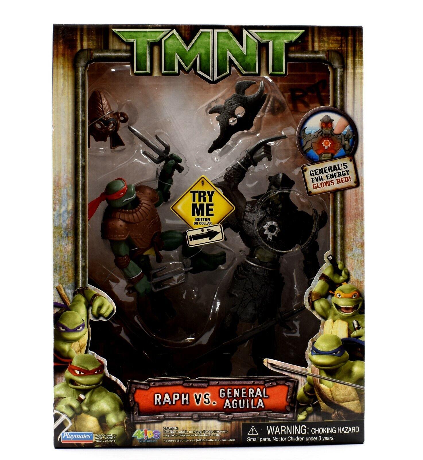 Teenage Mutant Ninja Turtles TMNT Movie - Raph mot General Aguila Figur Set