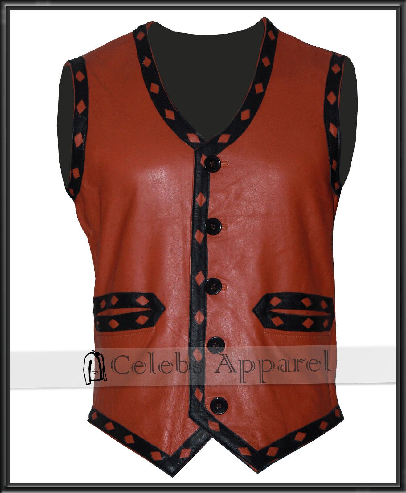 R3 Giacca da uomo NERO vintage pelle slim fit giacca di pelle vintage sintetica fe8980