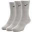 Nike-Kids-Junior-3-Pair-Socks-Boys-Ankle-Crew-Cotton-Sports-Black-White thumbnail 37