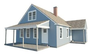 3-Bedroom-House-Plans-w-Loft-DIY-Home-Building-Project-Guest-Cottage-840-sq-ft