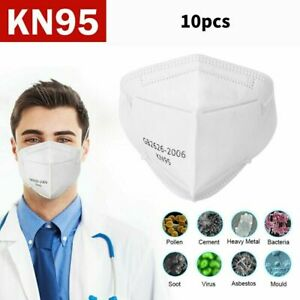 4/10 PCS KN95 Face Mask Mouth Cover Disposable Masks Respirator