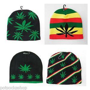 1735508c2 Details about 420 Marijuana Weed Pot Leaf Rasta Skull Cap Beanie Winter Hat  NEW US SELLER