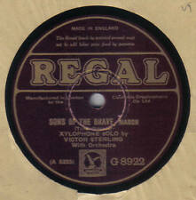VICTOR STERLING - Sons Of The Brave / With Sword And Lance 78 rpm disc (A+)
