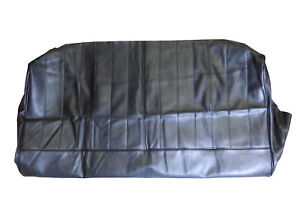 Early-Rear-Seat-Base-Cover-Black-Leather-Vinyl-For-Fairway-Driver-FHM153