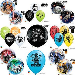 Star-Wars-Autorizado-Qualatex-Latex-amp-BURBUJA-Globos-Cumpleanos-De-Ninos-Fiesta