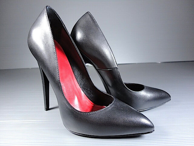 Descuento de liquidación CQ COUTURE EXTREME SEXY HIGHEST HEELS PUMPS SCHUHE DECOLTE LEATHER BLACK NERO 39