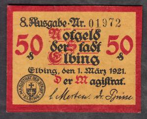 Elbing-Stadt-50-Pf-Verkehrsschein-von-1921
