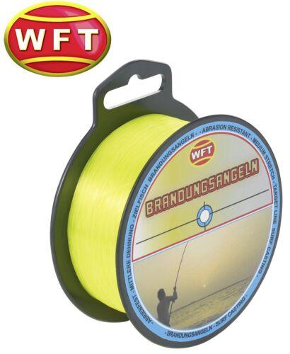 Angelschnur 0,01€//1m Monofil WFT Zielfisch Brandung 300m 0,35mm 10,3kg gelb