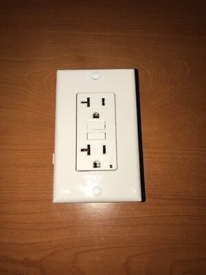 Leviton Self-Test GFCI Outlet Commercial With Wallplate 3white 1beige 1black