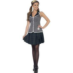 Ragazza Della Scuola UK 16-18 ST Trinians Donna Costume Uniforme Adulti Costume NUOVO
