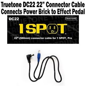 1-SPOT-22-034-Connector-Cable-Guitar-Pedal-Adapter-DC22-Truetone-Visual-Sound-NEW