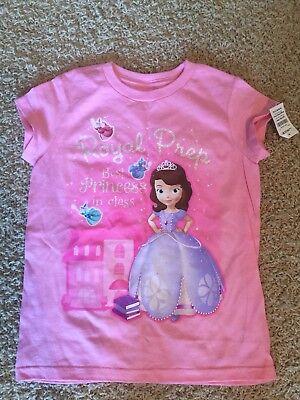 NEW Disney Store Sofia the First Polka Dot Girls Long Sleeve Tee Shirt Sz XS S M