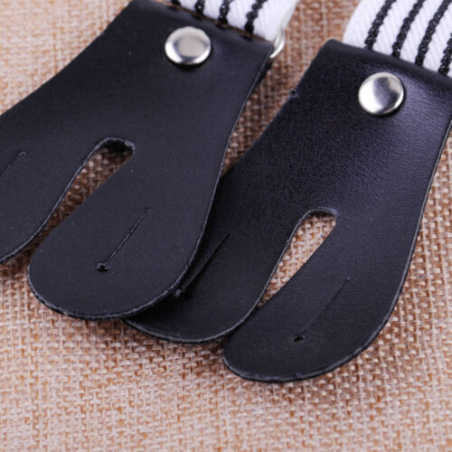 Hosenträger Knopflöcher PU Lederlaschen Knöpfen Hose Y-Form Ledernase # Streifen