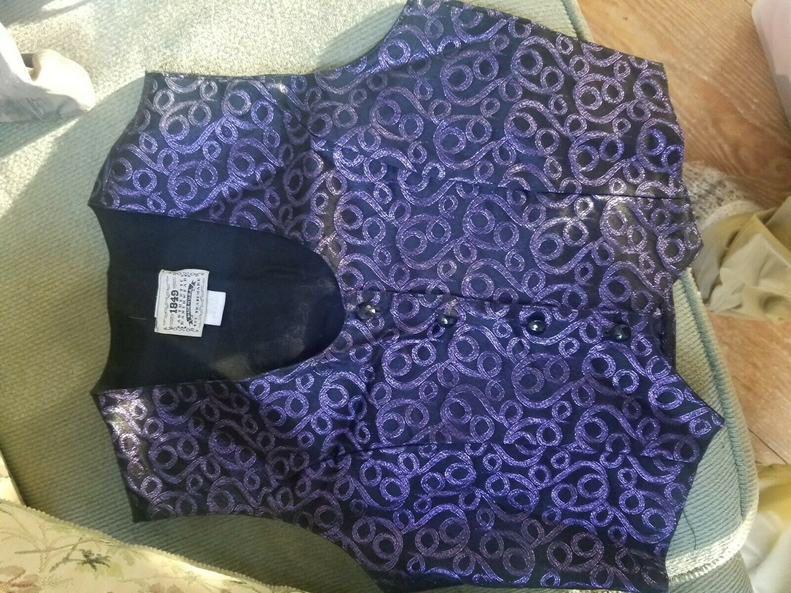 1849 show vest x small purplewestern pleasure