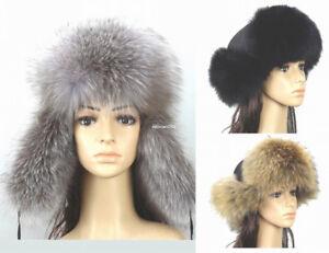24227b0b003 New Women s 100% Real Fox Fur Winter Hat  Russian Trooper Hat