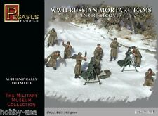PEGASUS  1/72  Russian Mortar Teams Greatcoats WWII (24) PGS7273