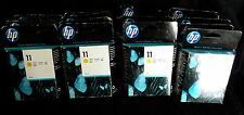 HP C4838A x4 off No 11 YELLOW 28 ml EXP DATE 2013-14 Pages= 2550- GENUINE SEALED