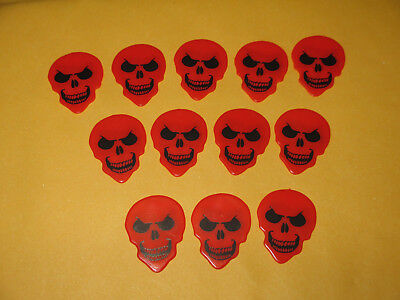 Lot of 12 different HotPicks NIGHTMARES Skull Emoji faces Guitar Picks
