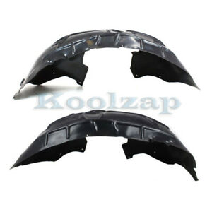 New Front Driver /& Passenger Side Fender Splash Liners For 05-07 Jeep Liberty