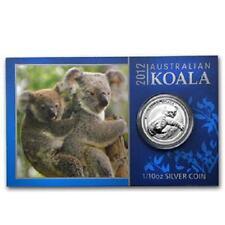 Perth Mint Australia $ 0.1 Koala 2012 1/10 oz .999 Silver Coin (with card)