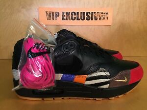 5693108561 Nike Air Max 1 Master Black Multicolor Red Blue 910772-001 LIMITED ...