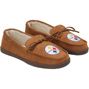 c5833e84f09 Image is loading Forever-Collectibles-NFL-NEW-Pittsburgh-Steelers-Mens- Moccasins-