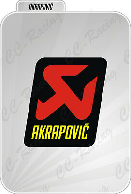 1 Adesivo Sticker Akrapovic Alte Temperature High Temperatures
