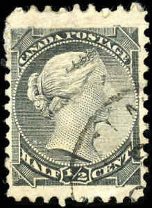 Canada-Used-1882-1-2c-F-VF-Scott-34i-Small-Queen-Stamp