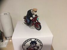 Robert Harrop DPWR11 WHITE BULL TERRIER BIKER REBEL RED LTD ED 150