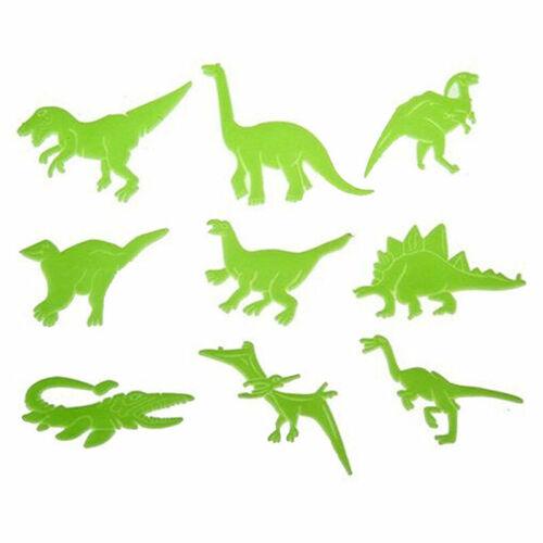 9x//Pack Glow in the Dark Night Dinosaur Stickers Kids Wall ArtUS Room M5N4