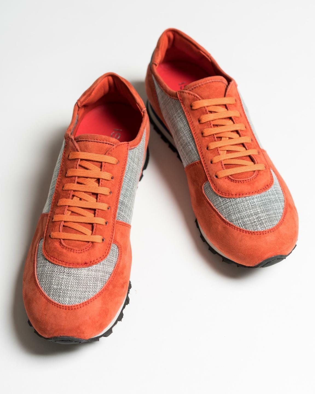 ISAIA  795 tip naranja gris to kashmir runner zapatillas 41 EU 8 us