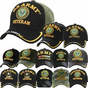 Details about US Army Veteran Hats Military Cap Air Force Retired Vietnam  War Disabled