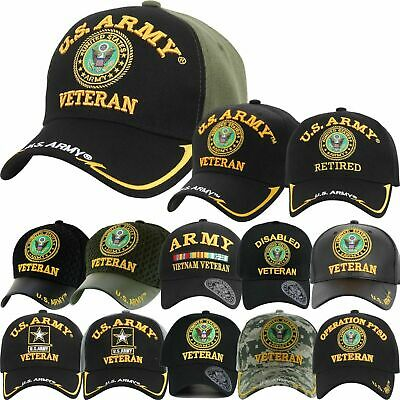 US Army Veteran Hats Military Cap Air Force Retired Vietnam War Disabled |  eBay