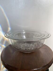 Vintage Pyrex Colonial Mist Bowls - SET OF 3 - 1L, 1.5L, 2.5L