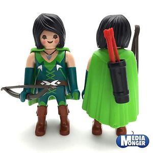 playmobil-Figur-Robina-Hood-Ritter-Raeuberin-Bogenschuetze-Lady-Hood-RAR
