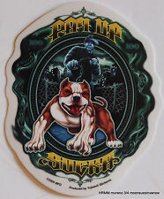Pit Bull pay up sucker Biker Enthusiast tank decal Window Sticker
