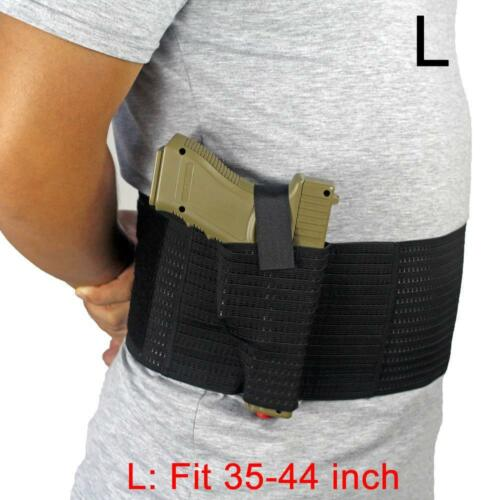 Elastic Breathable Concealed Carry Belly Band Holster with Dual Holster Carry