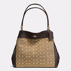 6d470dfd6329 NWT COACH LEXY SHOULDER BAG IN OUTLINE SIGNATURE F57612 - KHAKI ...