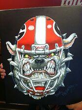 "Georgia Bulldogs Football ""Bulldawg Bite"" Canvas Artwork Print UGA Dave Helwig"