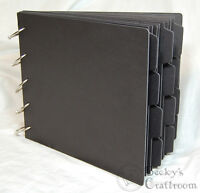 Black Chipboard Tabbed Album 8x9.5 15 Pages (2 Cover & 13 Tab) 5 Of 1.5 Rings