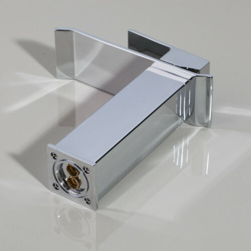 Wide Waterfall Spout ORB//Nickel//Chrome Bathroom Basin Mixer Faucet Brass Taps f4