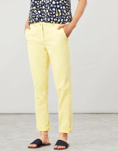 Joules Femme Hesford Chinos-Citron