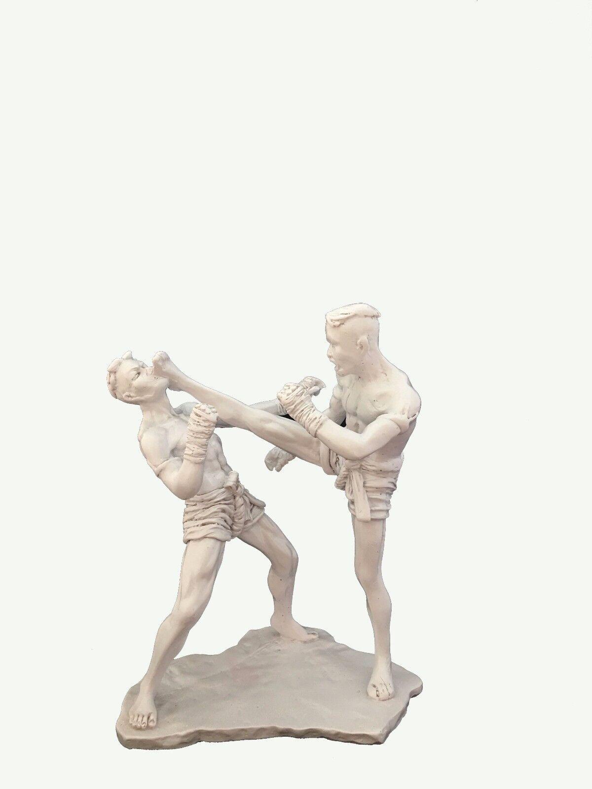 "Muay Thai Boxing Statue Figurine Wai Khru Martial Art Resin Gift Size 22 cm 9/"""