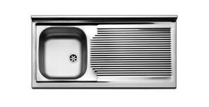 Lavello lavandino cucina inox appoggio da mobile cm 100 x 50 ala Dx ...