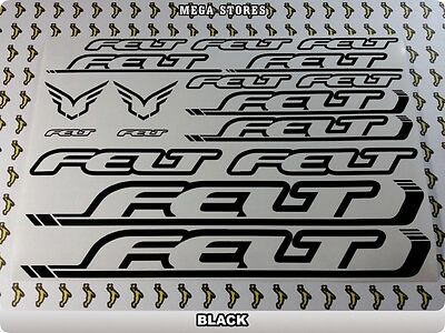 FELT Stickers Decals Bicycles Bikes Cycles Frames Forks Mountain MTB BMX 56W