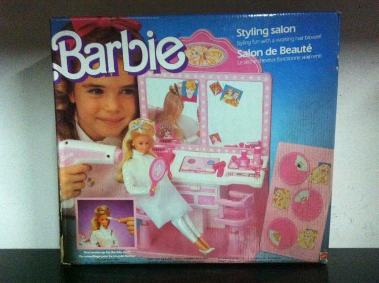 Barbie STYLING SALON with Working Hair Blower  3873 MIB, 1987