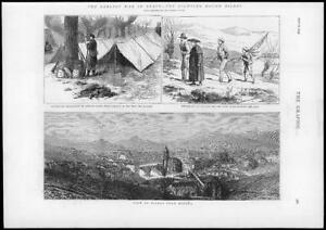 1874-Antique-Print-SPAIN-Carlist-War-Bilbao-Pena-Del-Enadro-Alcalde-207